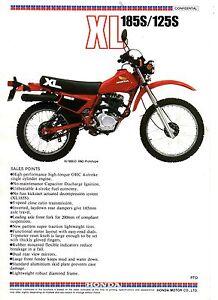 1983-HONDA-XL185SD-XL125SD-TRAIL-BIKE-2-Page-Motorcycle-Sales-Brochure-NCS