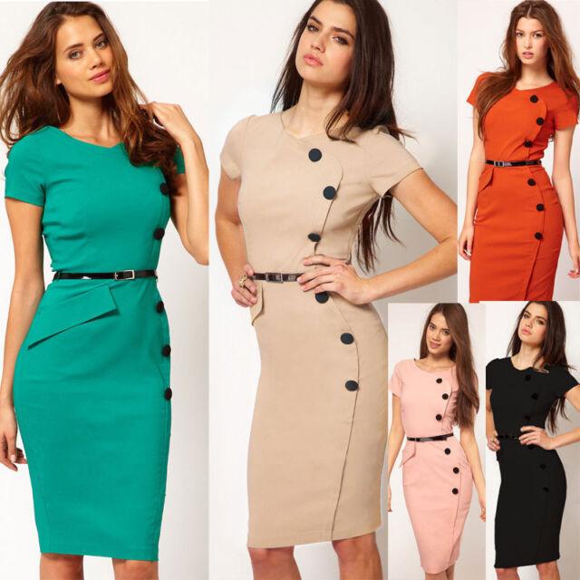 Womens Ladies OL Dress Bodycon Slim Pencil Dress Evening Party SALES PROMOTION