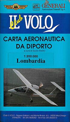 """""""lombardia"""" - Carta Aeronautica Da Diporto 1:200.000 - Club Il Volo"""