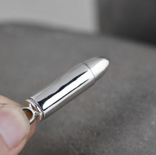 I05 Anhänger zum Öffnen Patronenhülse Sterling Silber 925