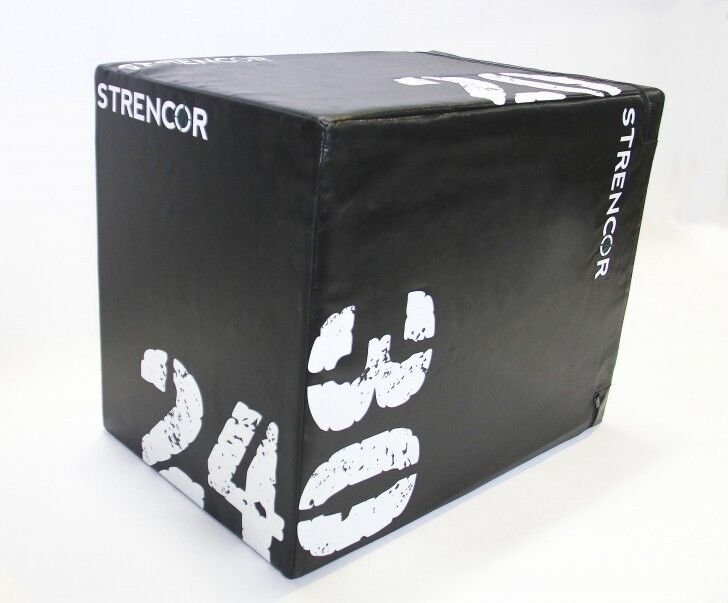 Strencor 3-IN-1 SOFT PADDED PLYO BOX Gym Fitness Crossfit Exercise 20 , 24 , 30