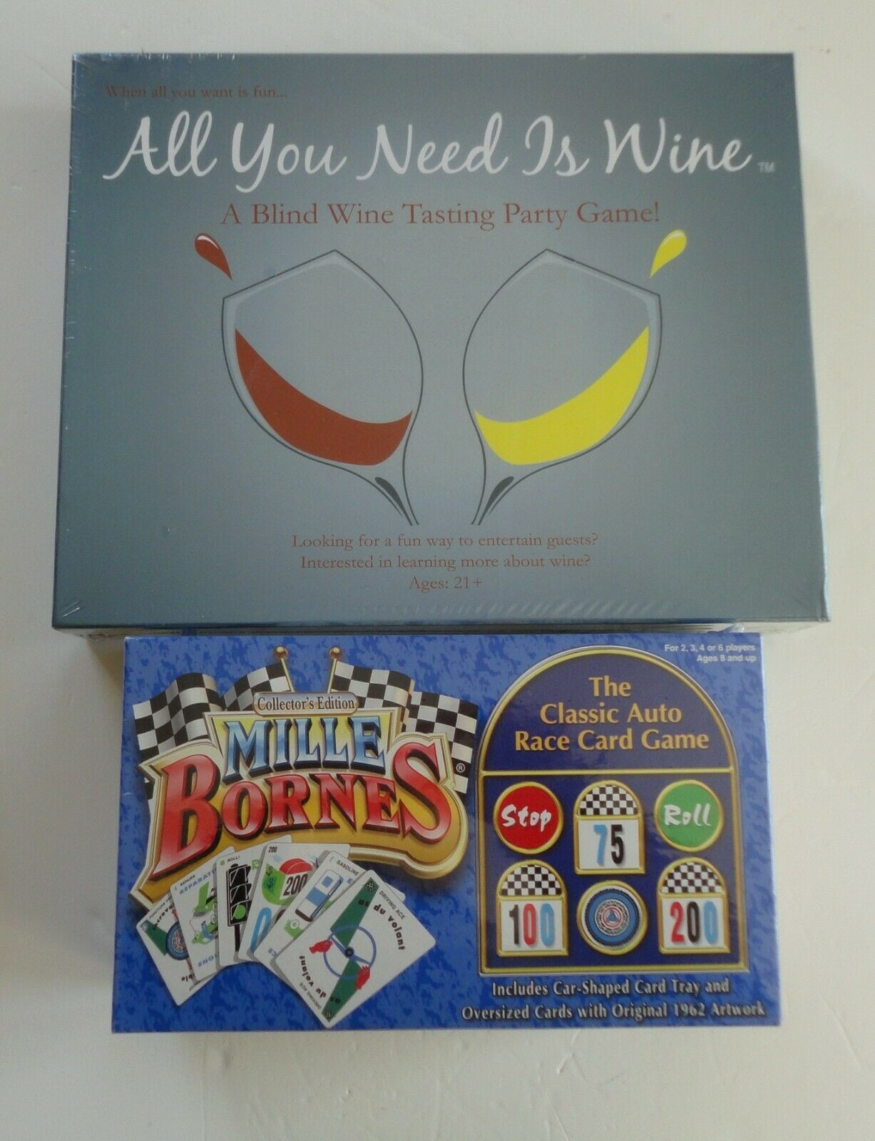 2 New Party Game 2003 Collector's Edition Mille Bornes 2009 All You Need Is Wine