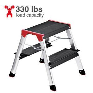 Awesome Details About Delxo Lightweight Aluminum 2 Step Ladder Rv Ladder Step Stool Folding Step Inzonedesignstudio Interior Chair Design Inzonedesignstudiocom