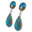 Vintage Silver Gemstone Turquoise Stud fait miroiter Boucles D/'oreilles Bijoux Fête Cadeaux