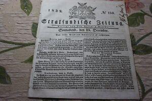 Style De Mode 1832 Stralsund Journal 150/-afficher Le Titre D'origine