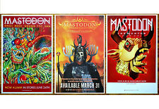 MASTODON Emperor of Sand   Once More Round Sun   The Hunter Ltd Ed 3 Posters Lot