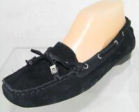 Women's Michael Kors Daisy Moc Black Suede Moccasin Flat Size 6.5 M