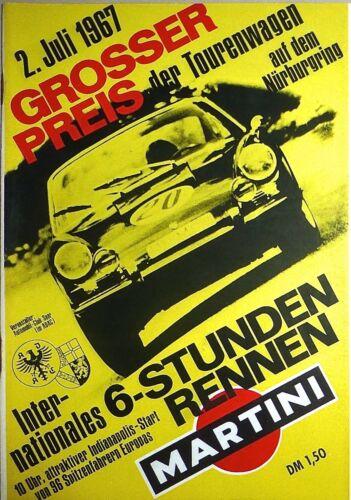 Juli 1967 Grosser Preis der Tourenwagen Nürburgring PROGRAMMHEFT å IV05 * 2