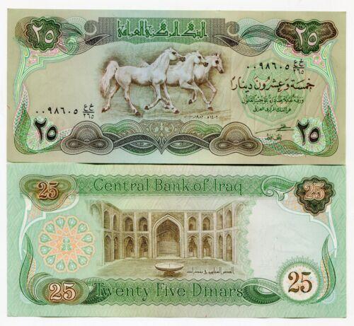 XXF Swiss Print Iraq Bundle 1982 25 Dinar Horses