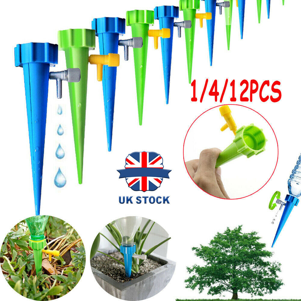12PCS Automatic Self Watering Spikes System Patio Home Plant Pot Waterer Toolss