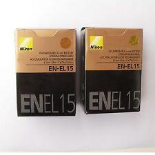 2x EN-EL15 Battery For Nikon D7000 D800 D800E D7000 D600 MB-D11/D12 NEW camera