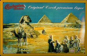Budweiser-Budvar-Egypt-embossed-steel-sign-hi-3020