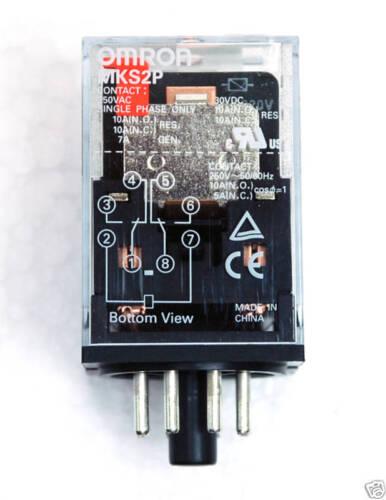 1pc OMRON Relay MKS2P Coil=AC110V 110V DPDT 10A 250VAC = MK2P