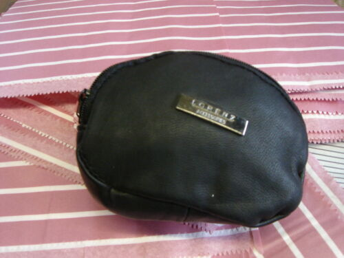 SOFT LEATHER COIN PURSE TWIN ZIP SCRUNCHY NAPPA NEW