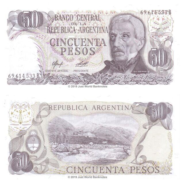 Argentina 50 Pesos ND (1976-78) P-301b Banknotes UNC