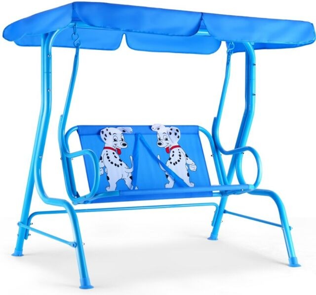 Strange Kids Patio Swing Chair Children Porch Bench Canopy 2 Person Yard Furniture Blue Pdpeps Interior Chair Design Pdpepsorg