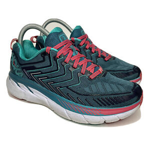 HOKA-ONE-ONE-Clifton-4-Women-039-s-Size-7-Comfort-Cushioned-Athletic-Running-Shoes