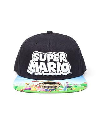 OFFICIAL NINTENDO - SUPER MARIO BRO'S - RUBBER MARIO PATCH GREY SNAPBACK CAP
