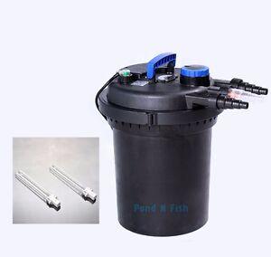 4000 gal pond filter w 13w uv sterilizer koi easy for Koi pond gallons