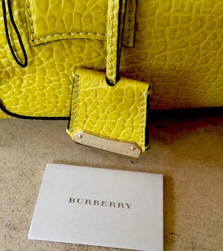 guijarro mano cuero amarillo de Prorsum de Burberry bolso qXBYPtxX