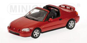 Honda Civic Del Sol 1993 Rouge Minichamps 1:43 400161930 Modèle réduit