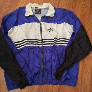 90014b7013 VINTAGE ADIDAS breakdance B Boy Rap Hip Hop track jacket XL Run DMC ...
