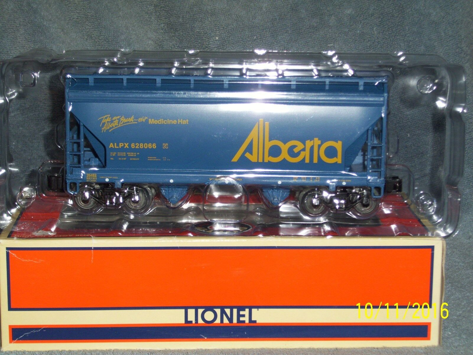 LIONEL 6-6482 ACF 2-BAY HOPPER ALBERTA