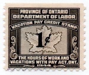 (I.B) Canada Revenue : Ontario Vacation Pay 1c | eBay
