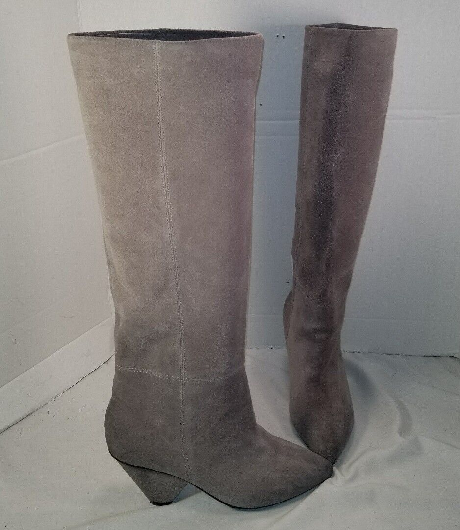NEW JEFFREY CAMPBELL SENITA MODERN TAUPE SUEDE SLOUCH SLOUCH SLOUCH BOOTS US  7 MSRP  248.00 a6fb30
