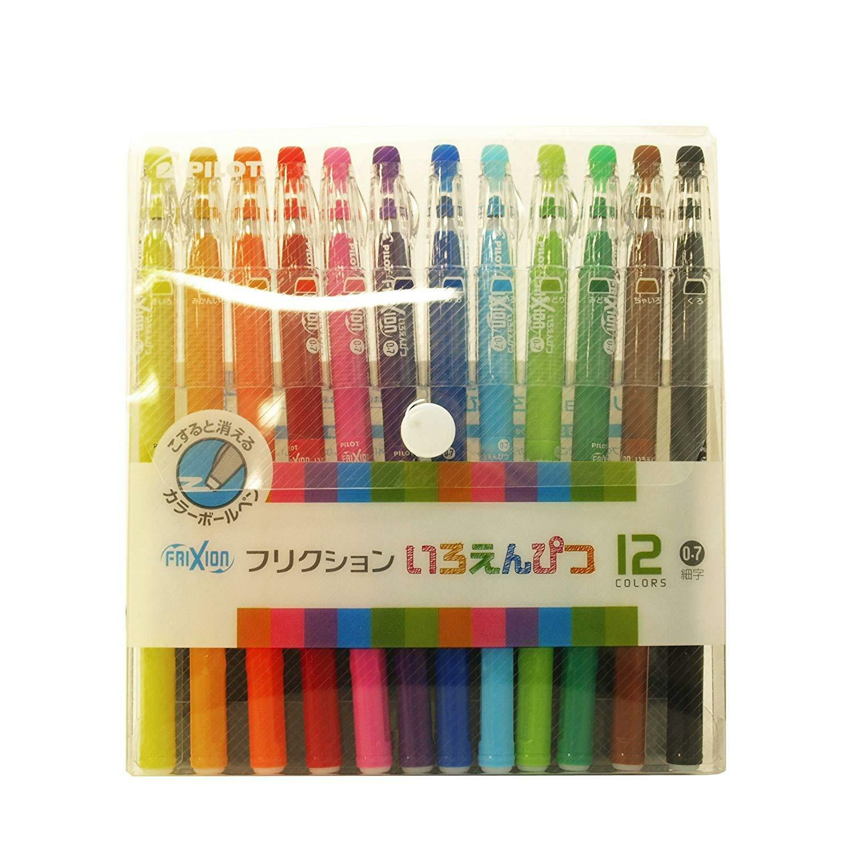 Pilot Friction Ballpointpen 12colord set write and erase Letter color pen Japan