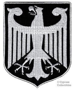 BLACK-GERMAN-embroidered-PATCH-GERMANY-iron-on-Bundesadler-Aufnaher-Deutschland