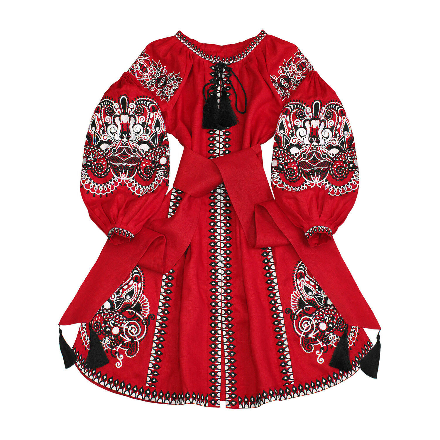 Dress ukrainian embroidered vyshyvanka with wedges Oriental Fairy Tale All sizes