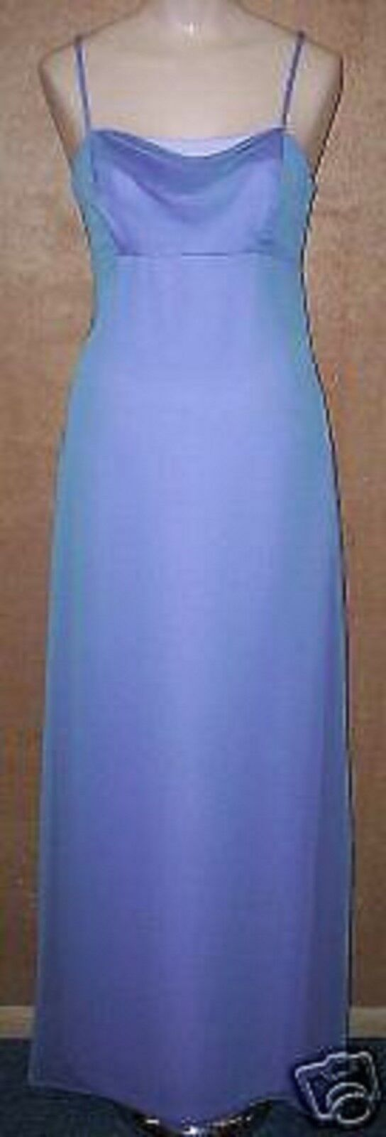 NADINE PERIWINKLE blueE BRIDESMAID PROM FORMAL EVENING GOWN DRESS size 3