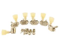 Kluson Trad Nickel 3x3 Locking Tuner with Pearloid Dbl ring button SD90SLN DR/L