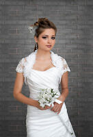 Wedding Organza And Lace Bolero/shrug Bridal Jacket S M L Xl