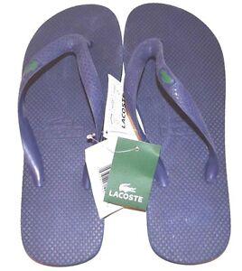 5604411fb Free postage. Image is loading Lacoste-Flip-Flops-Sandals-US-Size-9-Dark-