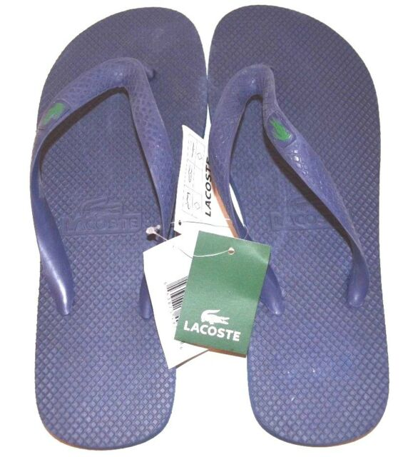 3457c67a03a07f Lacoste Flip Flops   Sandals US Size 9 Dark Blue - FREE SHIPPING - BRAND NEW