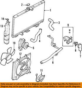 mitsubishi oem 93 02 mirage engine coolant thermostat md337408 ebay rh ebay com