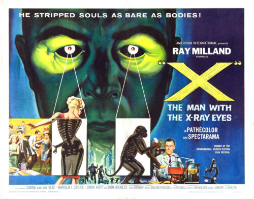 "The Man with the X-ray Eyes Movie Poster Replica 11x14/"" Photo Print"