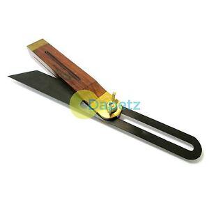 """Sliding Bevel 10.5"""" Long Woodworkers Bevel Gauge Hardwood Angle Finding Finder"""