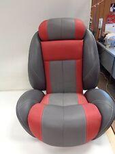 """JUMP SEAT RED / GRAY VINYL 16"""" L X 22 3/4"""" W X 7 3/8"""" D MARINE BOAT"""