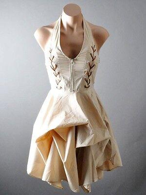 Corset Strap Victorian Steampunk Western Desert Gothic Halter Bustle Dress S M L
