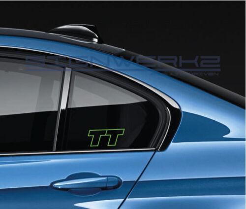 Audi TT decal Sticker EURO Racing mod TTS TTRS Pair