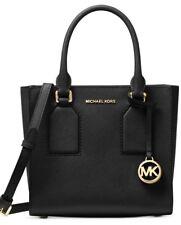 93908792a2 Michael Kors Selby Saffiano Leather Medium Messenger   Black 38F7GEYM2L