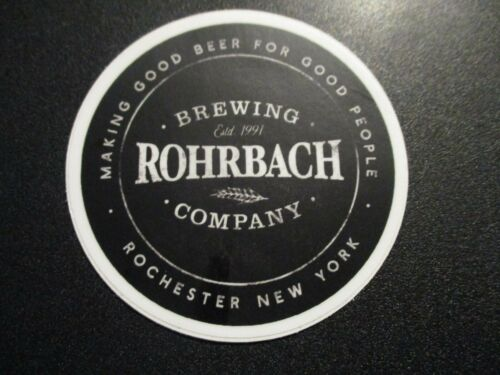 ROHRBACH BREWING Rochester New York highland STICKER decal craft beer brewery