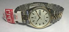 Q&Q by Citizen Men's Two-tone Stainless Steel Fluted Bezel White Dial Watch