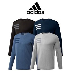 af4d22ae92e4a Image is loading ADIDAS-3-STRIPE-CREW-NECK-MENS-GOLF-SWEATER-