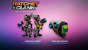 (PS5) Ratchet & Clank: Rift Apart - Pre-Order Pack DLC Carbonox Armor Pixelizer