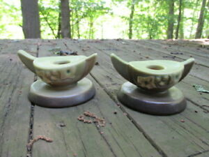 Roseville-Pottery-Wincraft-Soft-Green-Ceramic-Candle-Holders-2CS1-Floral-Art-SQ