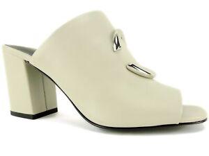 31646670025 Via Spiga Women s Eleni Leather Mules Bone Size 5.5 M 727686960038 ...